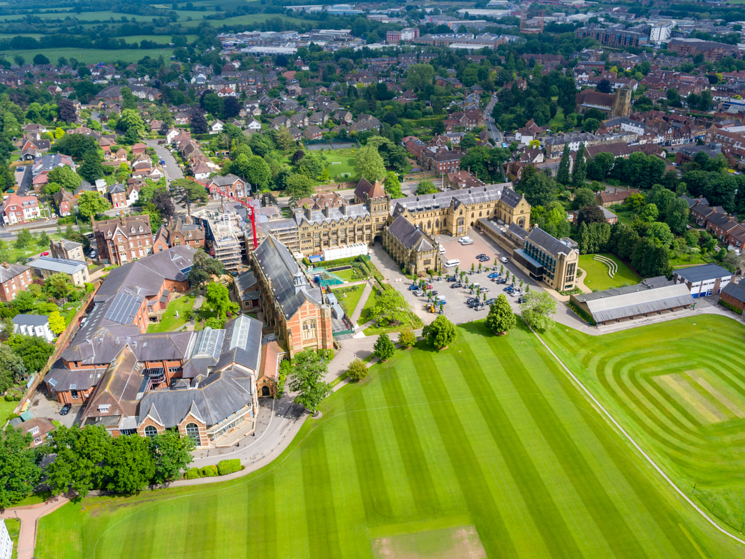 Aerial Photo of Tonbridge Boys School. Hire a licensed drone operator with Flyby Photography, aerial photography & Filming experts in Kent & Sussex.