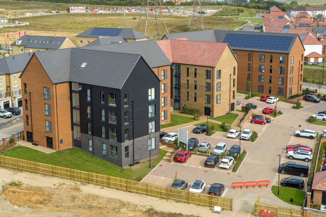 Aerial image of Ebbsfleet Commercial Quarter, Drone Photography and Filming by Flyby Photography