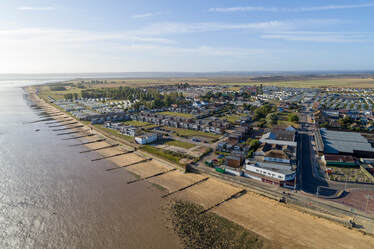 Aerial Photo of Leysdown On Sea. Hire a drone pilot with Flyby Photography, Aerial photography & Filming specialists.